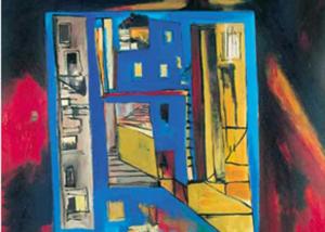Ciudad con Árbol | Serie de las Ciudades | Obra de Abraham Gustin.