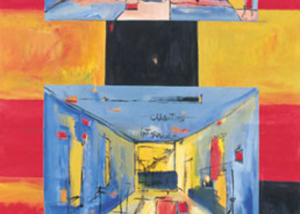 Cuarto Interno | Serie de las Ciudades | Obra de Abraham Gustin en la Embajada de Venezuela en Washington.