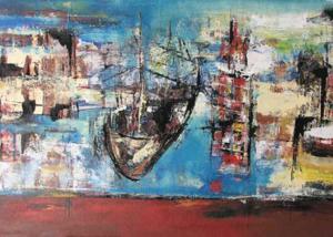Sin Título | Serie de los Barcos | Obra de Abraham Gustin.