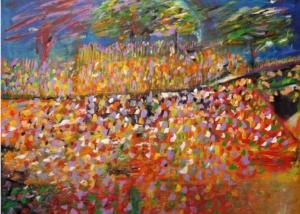 Jardín de la Ciudad | Abraham Gustin | Obra s/tela.