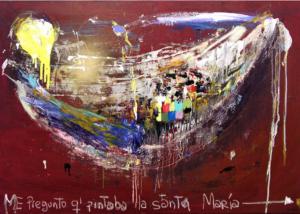 Me Pregunto que pintaba la Santa María | Abraham Gustin | Obra s/tela. | Serie de los Barcos