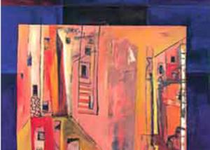 Pueblo Rosados | Serie de las Ciudades | Obra de Abraham Gustin.