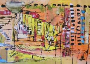 Escaleras | Serie de las Ciudades | Obra de Abraham Gustin.
