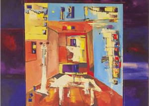 Comedor | Serie de las Ciudades | Obra de Abraham Gustin.