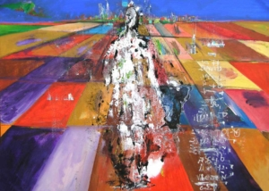 El Caminante | Abraham Gustin | Obra s/tela.