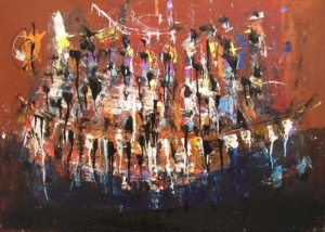 Remeros | Abraham Gustin | Obra s/tela. | Serie de los Barcos