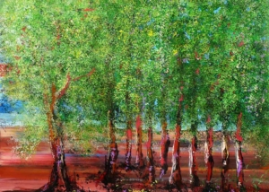 El Bosque de los Árboles que Caminan | Obra de Abraham Gustin
