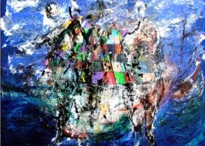 Espíritus Marinos | Obra s/tela | Abraham Gustin