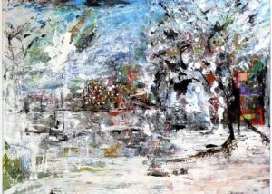 Llaneros en Blanco | Obra de Abraham Gustin