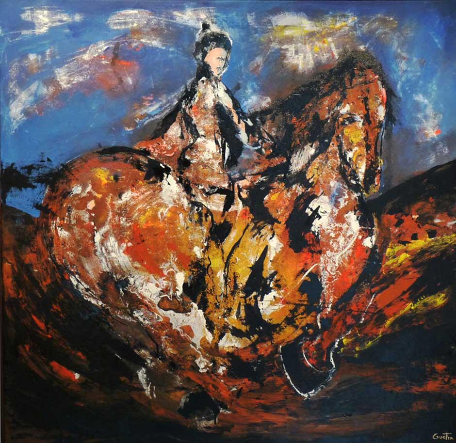 Kublai Kan | Abraham Gustin | Acrílico s/tela.