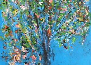 Sobre Los Arboles | Abraham Gustin | Título: Árbol en Azul