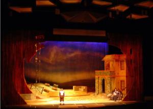 Telón elaborado por Abraham Gustin | Elixir de Amor | Teatro Teresa Carreño