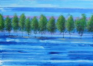 Serie de los Árboles | Abraham Gustin | Título: Mar en Calma.