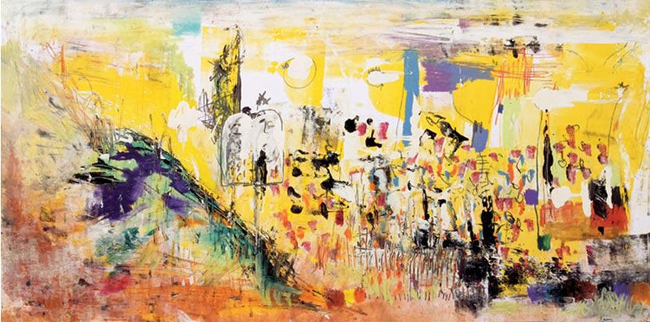 Dibujos para una Hagadá de Pésaj de Abraham Gustin | La gran entrega de los Diez Mandamientos |