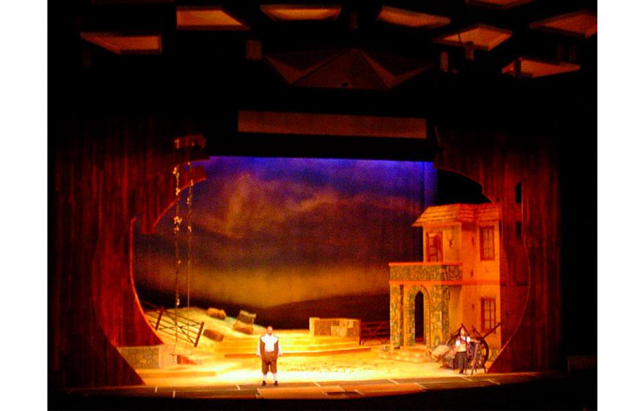 Abraham Gustin Telón para la Ópera Elixir de Amor