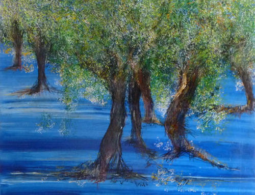 Árbol sobre un Mar Azul | P13