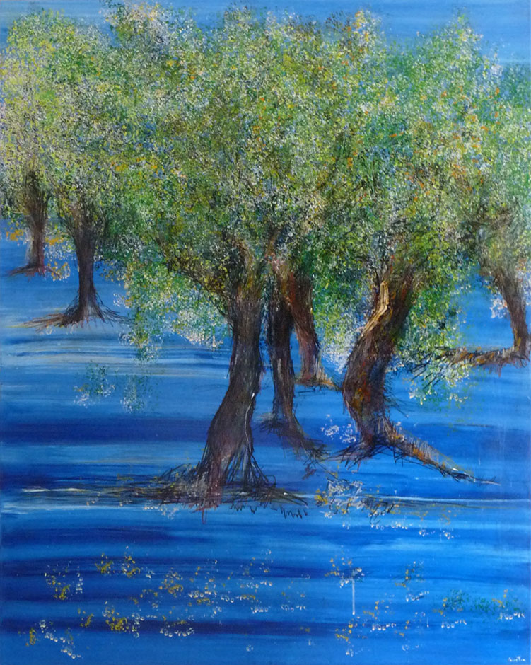Arbol en Mar Azul