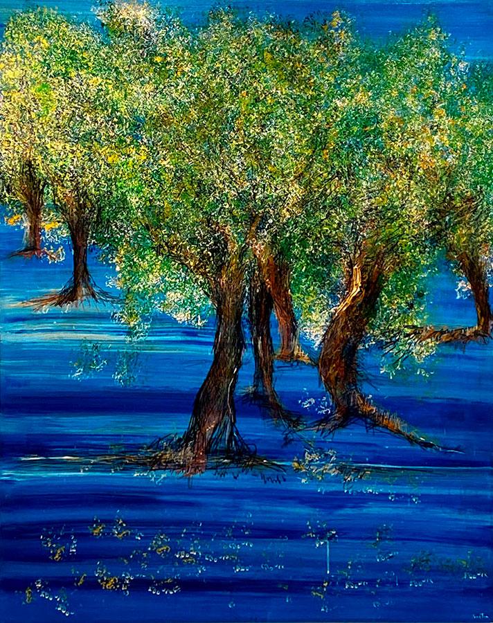 Arbol en Mar Azul Completo